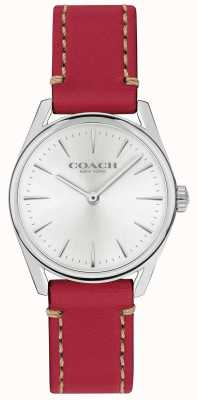 Coach 女式现代奢华红色皮表带 14503205