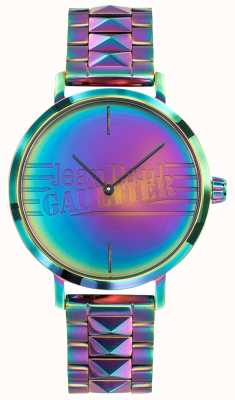 Jean Paul Gaultier 坏女孩紫色彩虹效果金属手表 JP8505706