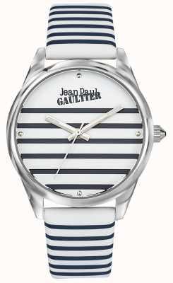 Jean Paul Gaultier 海军女式条纹手表皮表带 JP8502416