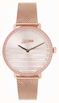 Jean Paul Gaultier Glam海军女式玫瑰金色调网眼手链 JP8505601