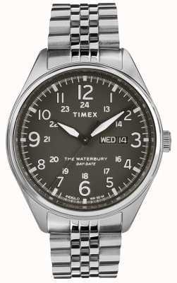 Timex 男士waterbury传统日期黑色钢 TW2R89300