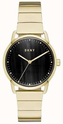 DKNY 女式黑色表盘金色手镯表 NY2756