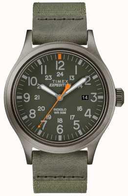 Timex Expedition scout手表绿色织物表带 TW4B14000D7PF