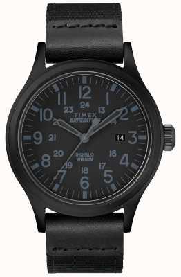 Timex Expedition侦察手表黑色织物表带 TW4B14200D7PF