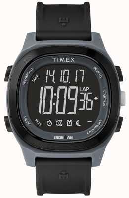 Timex 铁人必不可少的黑色手表与负面显示 TW5M19000SU