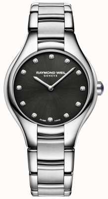 Raymond Weil 女士noemia黑色钻石镶表盘 5132-ST-20081