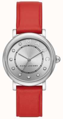 女士Marc Jacobs经典手表红色皮革(无盒) MJ1632
