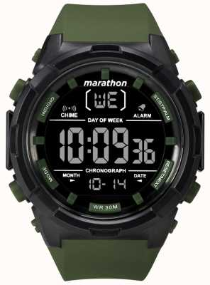 Timex 男士50毫米黑色表壳橄榄色表带 TW5M22200
