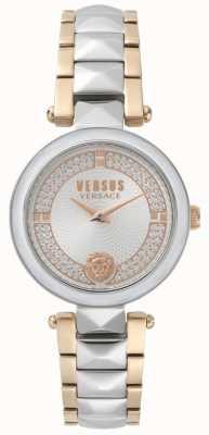 Versus Versace 女士考文特花园双色水晶手表 SPCD250017