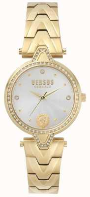 Versus Versace 女装v对石镶金表盘金色手镯 SPCI350017
