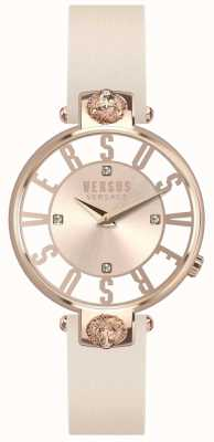 Versus Versace 女装kristenhof玫瑰金表盘粉红色皮表带 SP49030018