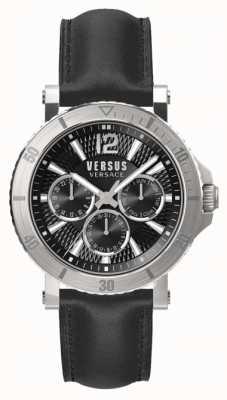 Versus Versace 男士steenberg黑色表盘黑色皮表带 SP52020018