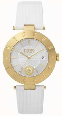 Versus Versace 女装标志白色表盘白色皮革表带 SP77210018