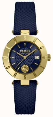 Versus Versace 女装标志蓝色表盘蓝色皮革表带 SP77220018