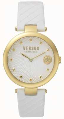 Versus Versace 女式浅口海湾白色表盘白色皮革表带 SP87020018