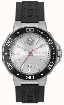 Versus Versace 男士kalk bay银色表盘黑色硅胶表带 vSP05010018