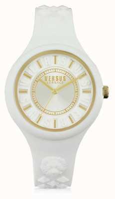 Versus Versace 火岛白色硅胶订书钉白色表盘 SOQ040015