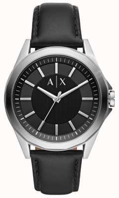 Armani Exchange 男装连衣裙|黑色皮革表带| AX2621
