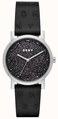 DKNY Dkny女士soho手表黑色皮表带 NY2775
