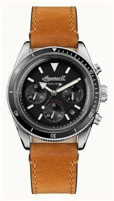 Ingersoll 这款scovill自动计时码表棕色皮表带 I06202