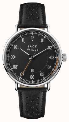 Jack Wills 男士acland黑色表盘黑色皮表带 JW003BKBK