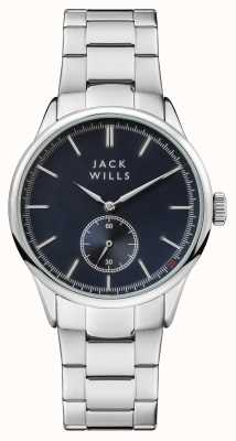 Jack Wills 男装forster蓝色表盘不锈钢表链 JW004BLSL