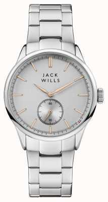 Jack Wills 男装forster银色表盘不锈钢表链 JW004SLSL