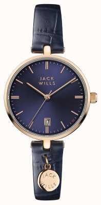Jack Wills 女装bennett蓝色表盘蓝色皮革表带 JW005BLRG
