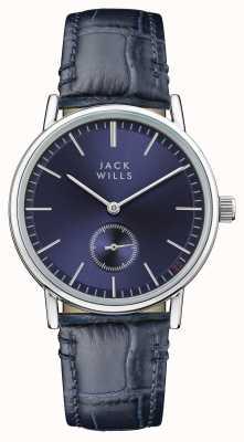 Jack Wills 女式巴克利蓝色表盘蓝色皮表带 JW007BLSS