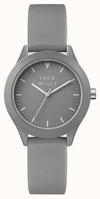 Jack Wills 女式灰色表盘灰色硅胶表带 JW008GYGY