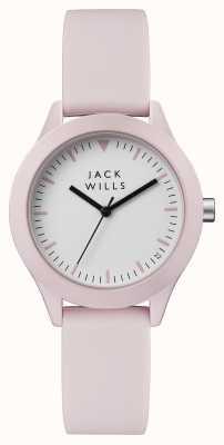 Jack Wills 女式白色表盘粉色硅胶表带 JW008PKPK