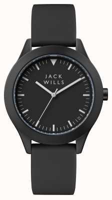 Jack Wills 男士联盟黑色表盘黑色硅胶表带 JW009BKBK