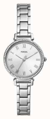 Fossil 女式kinsey不锈钢表带白色表盘 ES4448