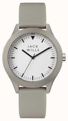 Jack Wills 男士白色表盘灰色硅胶表带 JW009WHGY