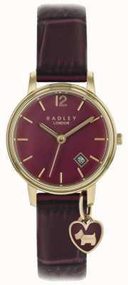 Radley 女士腕表玫瑰金表壳紫色表带 RY2718