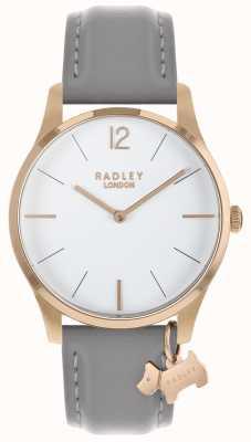Radley 女士腕表玫瑰金表壳灰色表带 RY2712