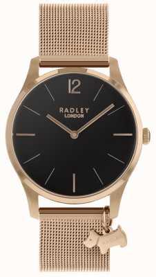 Radley 女士腕表玫瑰金网眼表带 RY4356