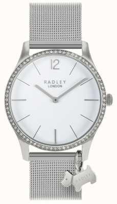 Radley 女士施华洛世奇水晶白色表盘不锈钢 RY4353