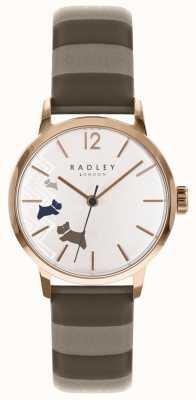 Radley 女士数据狗玫瑰金缎面表盘 RY2674
