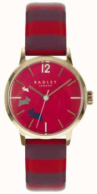 Radley 女士数据狗红葡萄酒光泽表盘皮革 RY2676