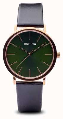 Bering 经典|抛光玫瑰金黑色表带 13436-469