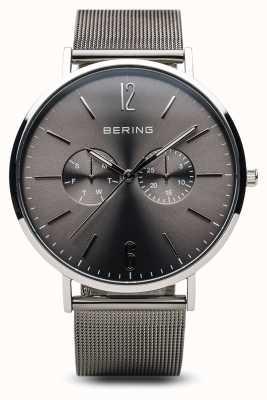Bering 经典 抛光银 男士 14240-308