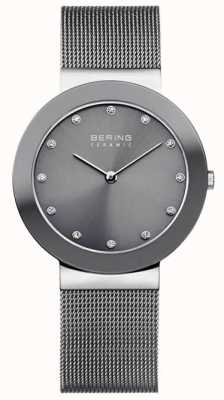 Bering 灰色陶瓷网状手链灰色表盘 11435-389