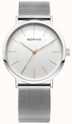 Bering 带网状表带和耐刮擦性的经典系列腕表 13436-001