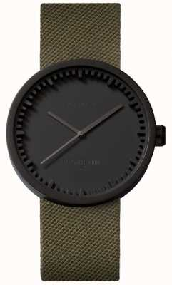 Leff Amsterdam Tube Watch D38 Cordura哑光黑色表壳绿色表带 LT71014