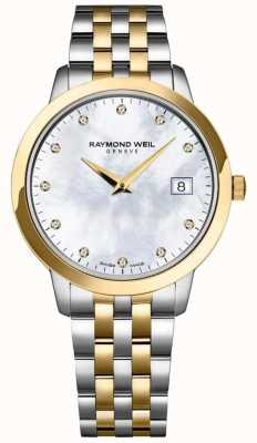 Raymond Weil 女装toccata钻石表盘双色手链 5388-STP-97081