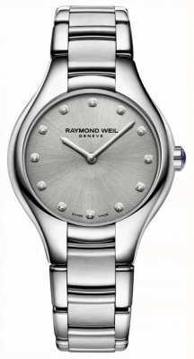 Raymond Weil 女士noemia钻石镶嵌不锈钢手链 5132-ST-65081
