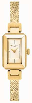 Thomas Sabo 女式不锈钢黄/金手链,金色表盘 WA0331-246-207-23