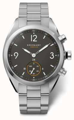 Kronaby 41毫米顶尖黑色表盘不锈钢表链a1000-3113 S3113/1
