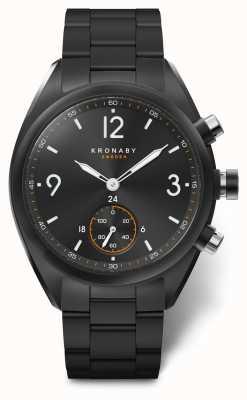 Kronaby 男士apex 41蓝牙不锈钢黑色表盘a1000-3115 S3115/1